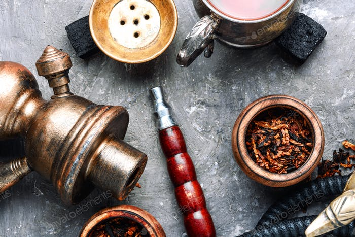 Modern hookah with tea