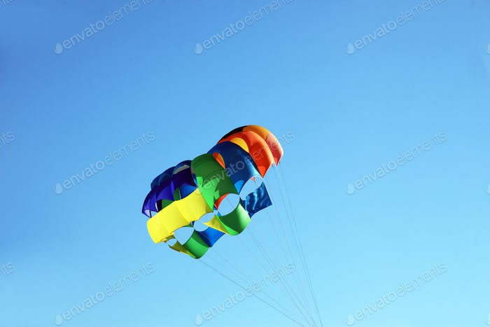 Big colorful parachute