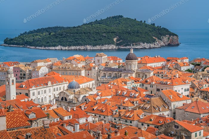 Historical old houses in Dubrovnik