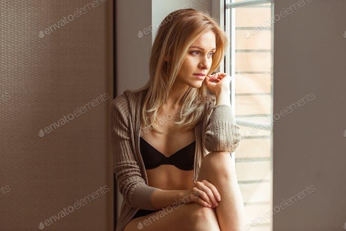 Girl in underwear