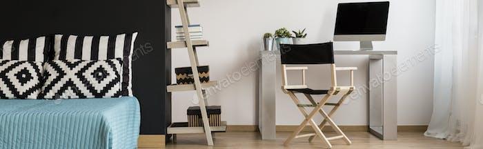 Minimalistic furniture in modern designed room