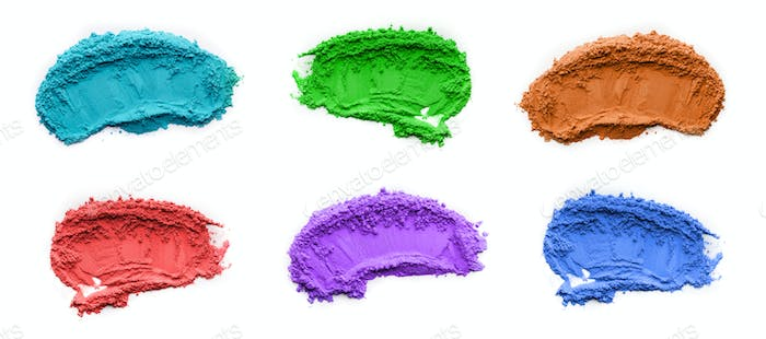 Set of different colors of powder for Indian festival