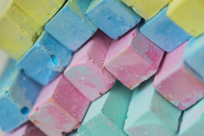 Colorful chalk pastels - education, arts,creative