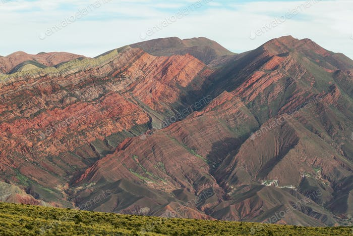 Multicolored mountain known as Serrania del Hornoca