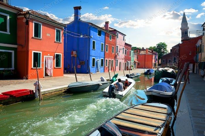 Canal on island of Burano