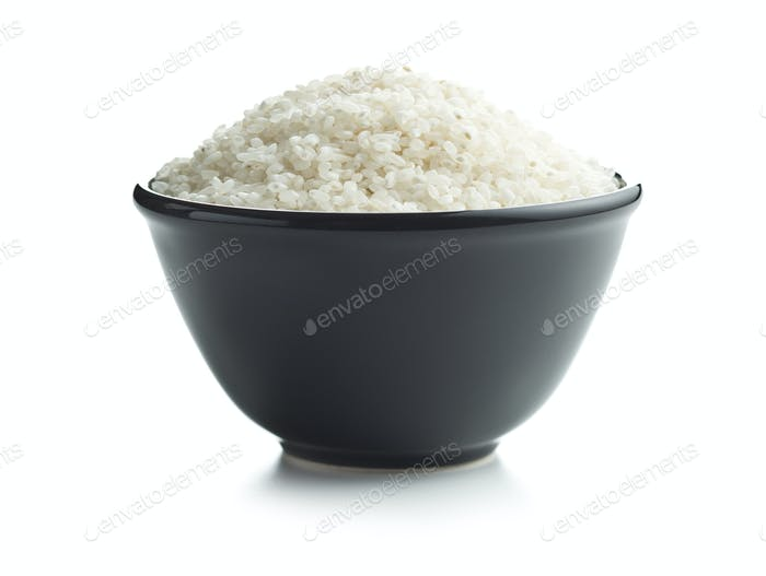 White sushi rice in bowl.