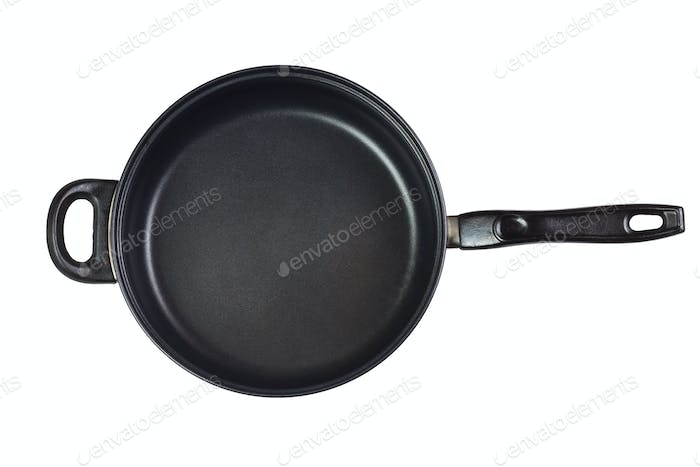 Big Frying Pan Isolated Over White Background