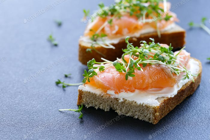 Canape with Red Fish