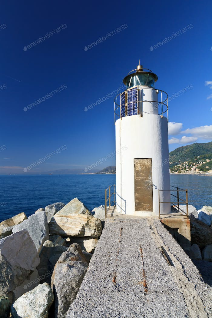 lighthouse over the sea