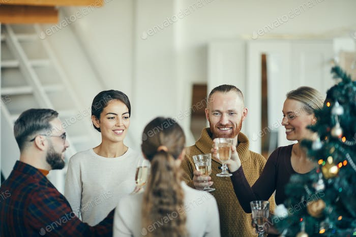 Guests at Christmas Reception