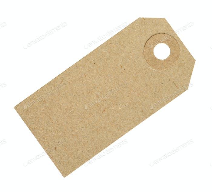Blank Cardboard Tag Label