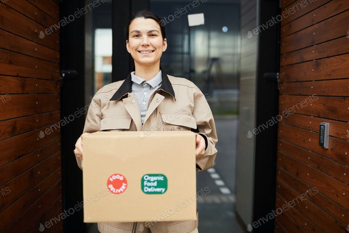 Woman delivering package