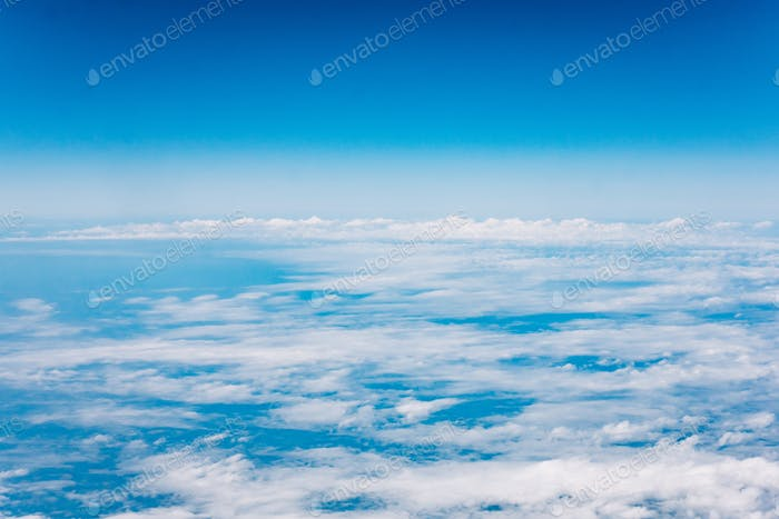 Clouds, a view from airplane window