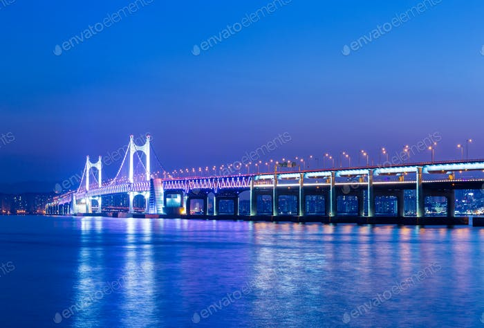Busan and suspension bridge