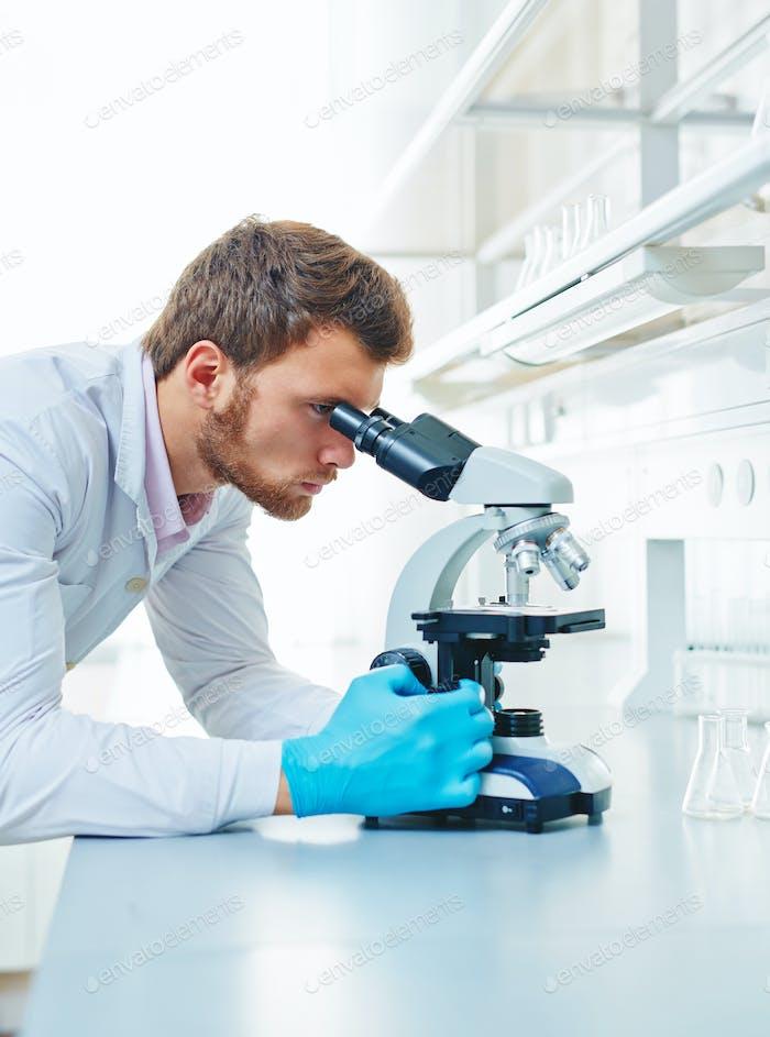Using microscope