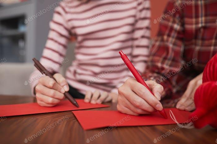 Decorating Red Envelopes