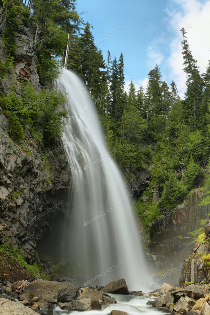 Narada Falls at Mt. Rainier National Park