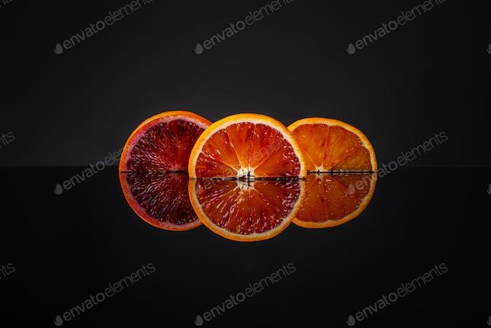 Juicy slice of Sicilian orange