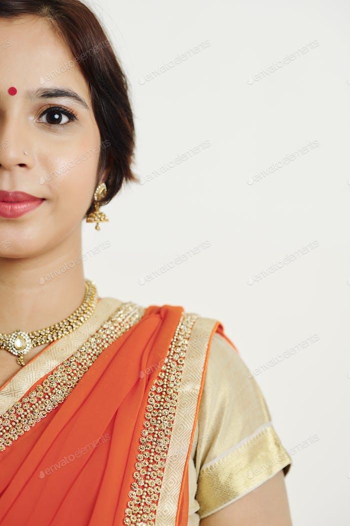 Porträt der indischen Frau