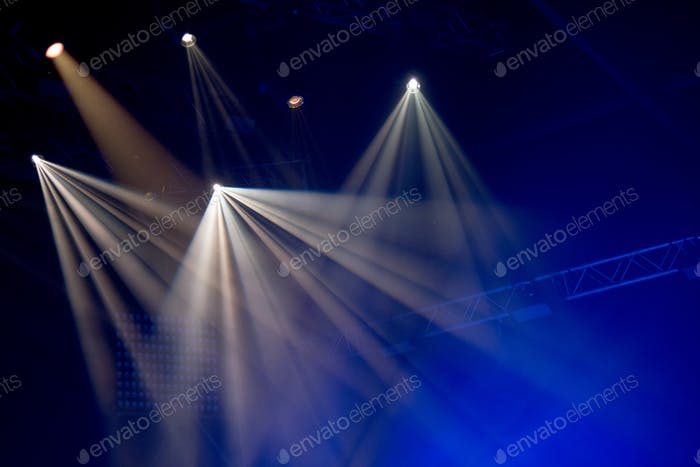 Stage lights with smoke on concert
