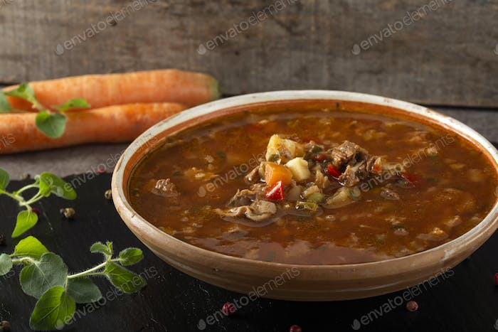 Eastern Europe  traditional sour soup or borsch