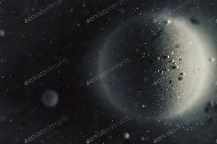 Dark Abstract Background Outer Space Creative Concept With