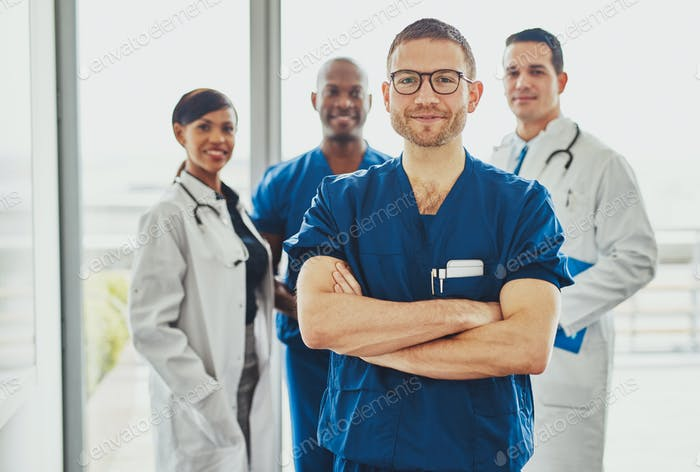 Doctor leading a medical team