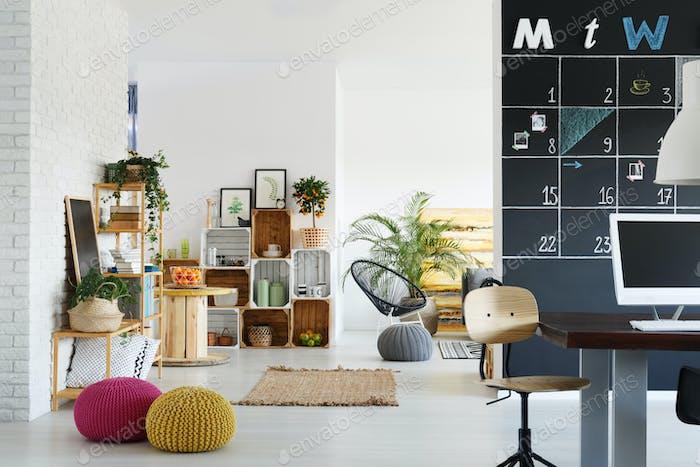 Büro mit Relaxzone