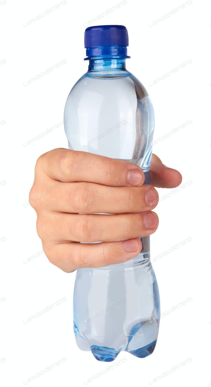 bottle in hand