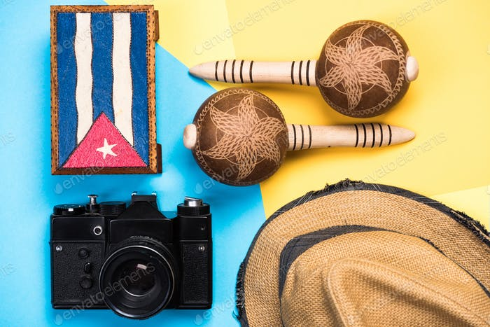 Vintage items related to exotic vacations in Cuba