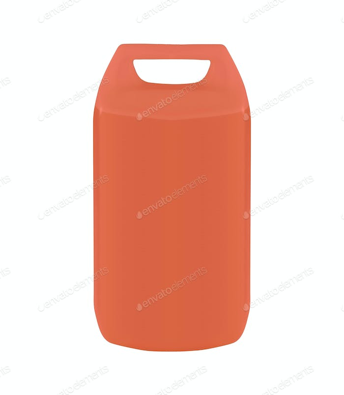 plastic jerrycan isolated