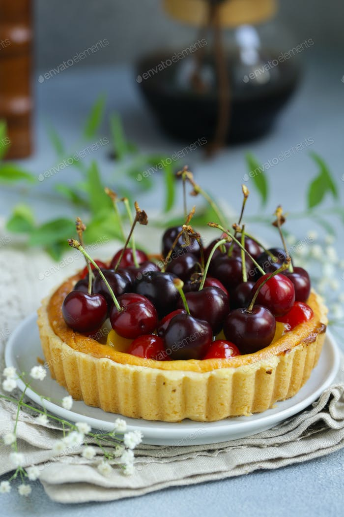 Dessert Mini Tart with Cottage Cheese
