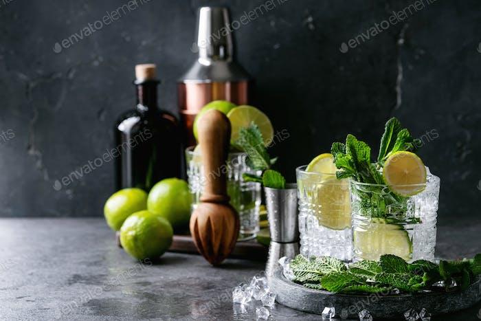 Hausgemachter Mojito Cocktail