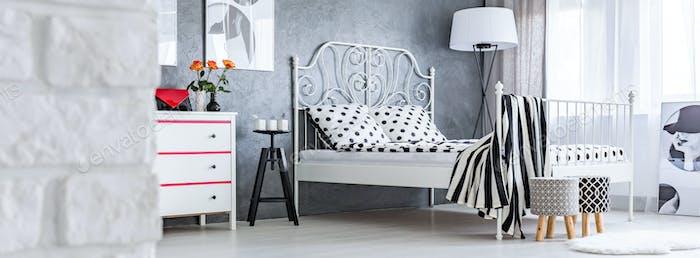 Elegant female bedroom