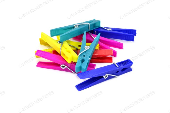 Pile of Clothes Pegs