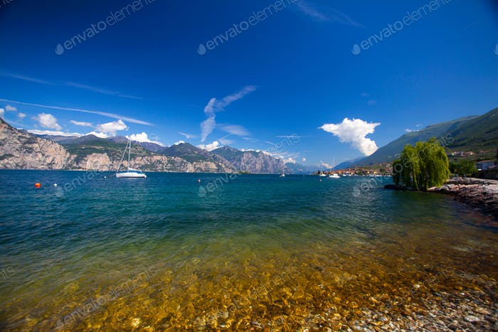 Garda lake in summer