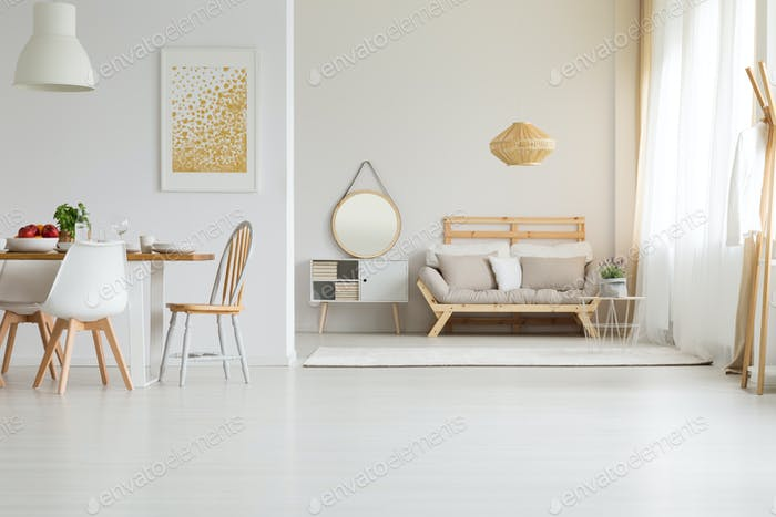 Wooden furniture in modern style