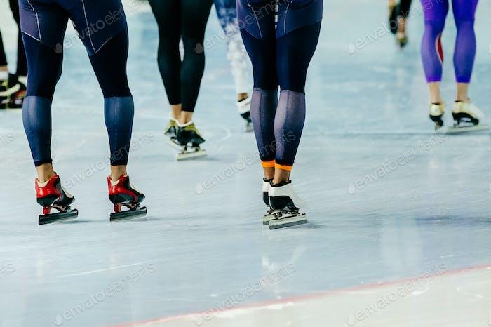 Füße Athleten Eisschnellläufer