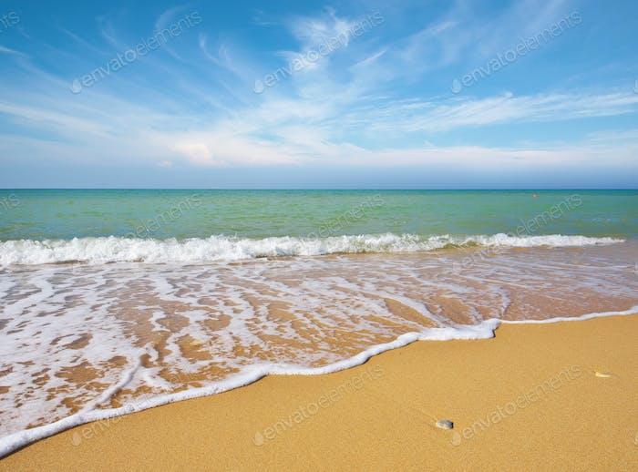 Beautiful coast of beach