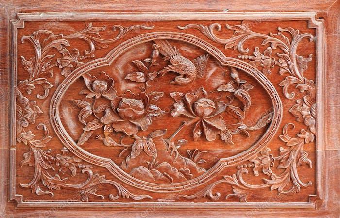 China wood carving