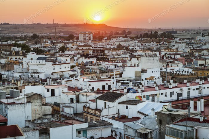 Seville at sunset