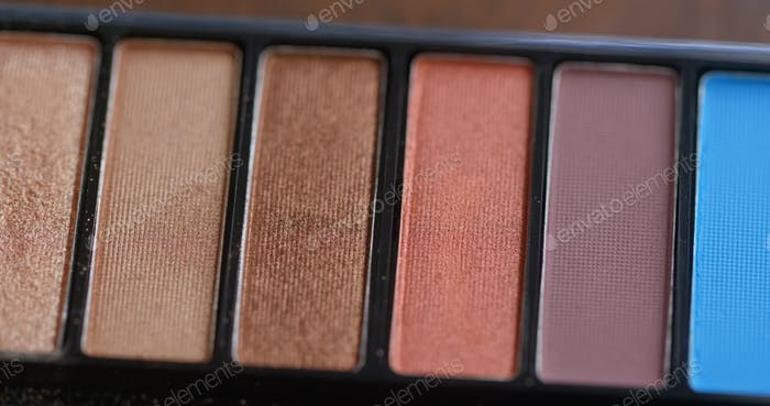 Eye shadow palette for make up