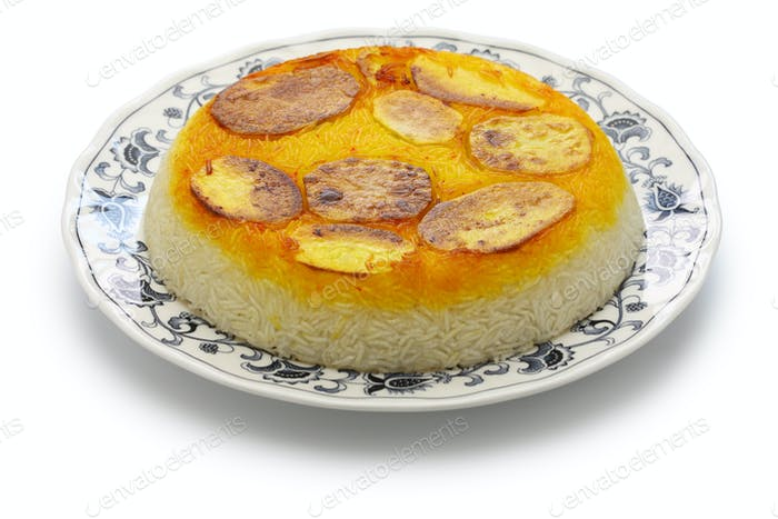 potato tahdig, iranian cuisine