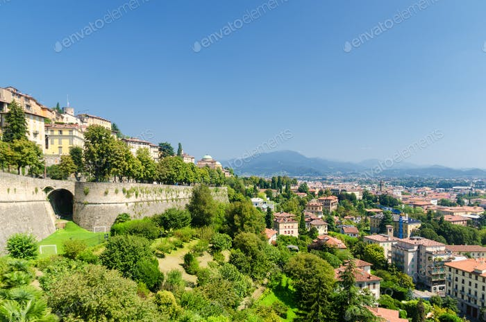 The Venetian Walls of the Fortified City of Bergamo, Italy