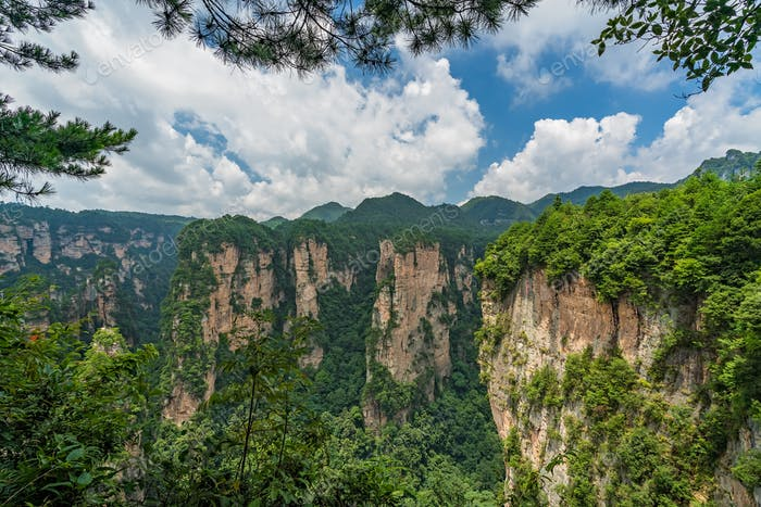 Stunning Mountain formations in Zhangjiajie