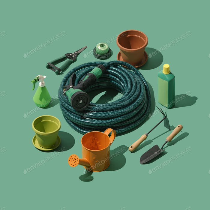 Gardening and horticulture tools collection