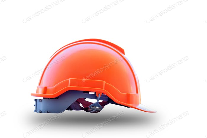 Safety helmet on isolated