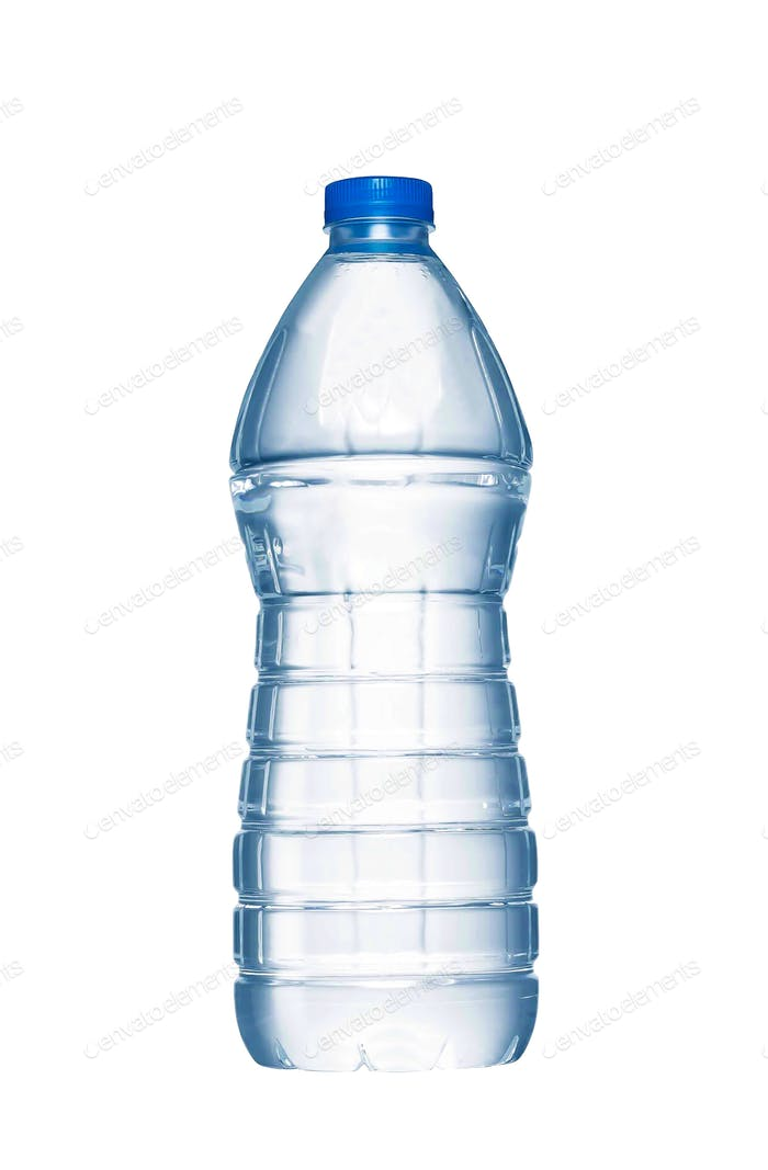 A bottle of water on white background