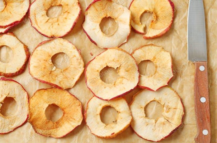 Thin apple chips