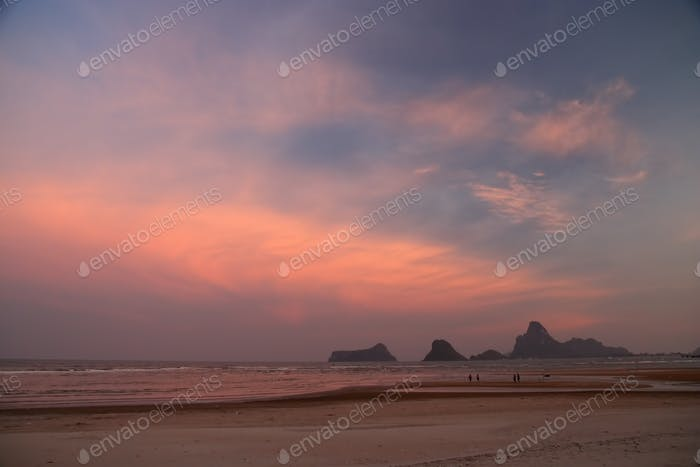 Spectacular beach and coast scenery in Thailand